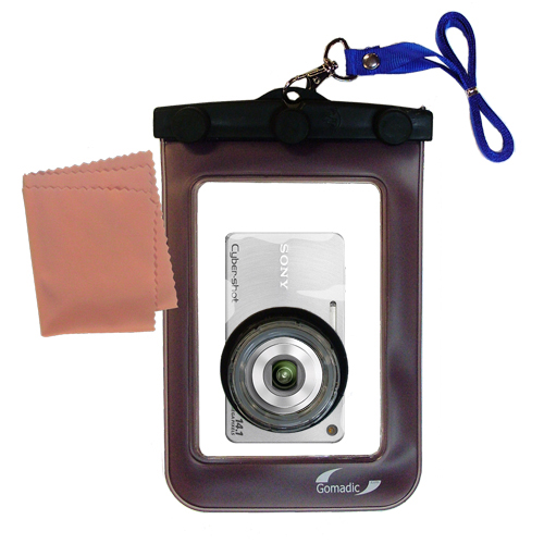 Gomadic Waterproof Camera Protective Bag suitable for the Sony Cyber-shot DSC-W360 - Unique Floating Design Keeps Camera Clean and Dry
