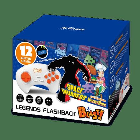 Legends Flashback Blast!, Space Invaders, Retro Gaming, Blue, 818858029582