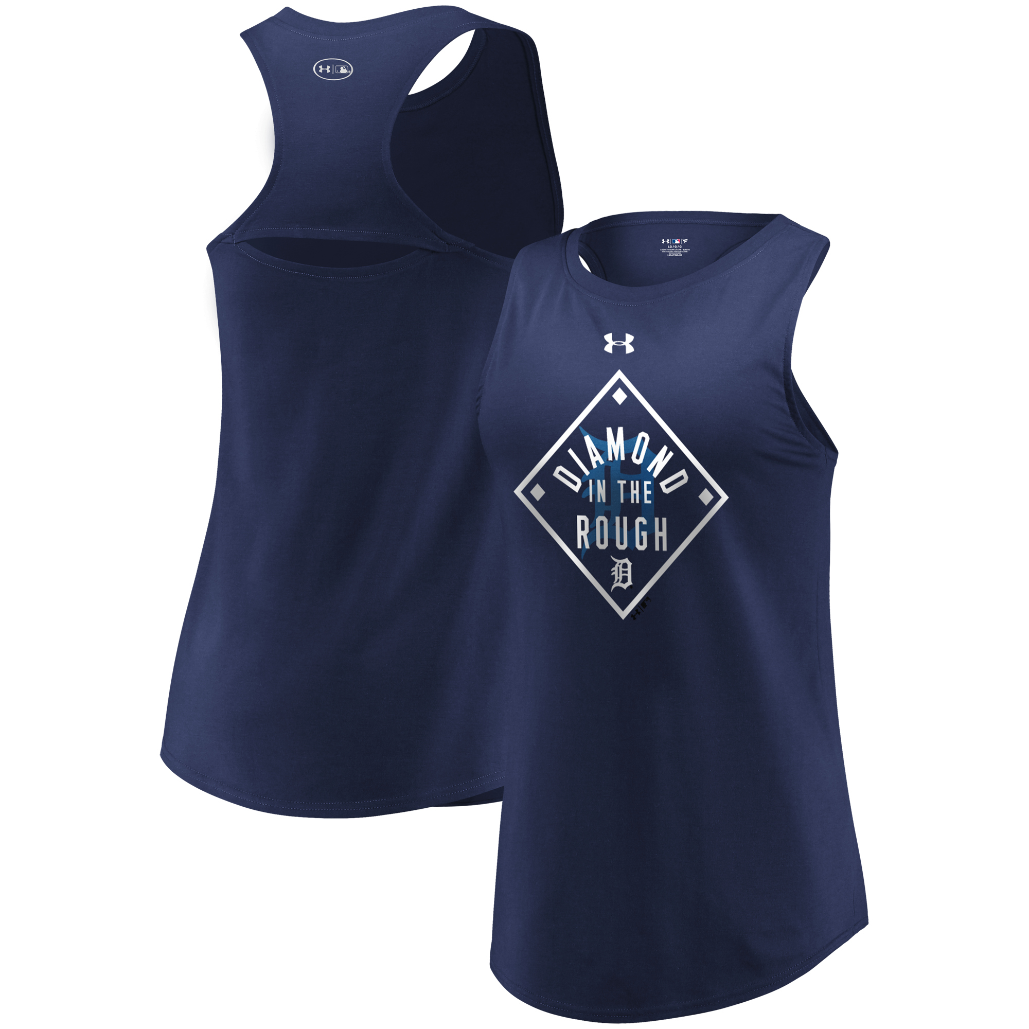 Detroit Tigers Under Armour Women's Passion Diamond Tri-Blend Performance Tank Top Navy by MAJESTIC LSG