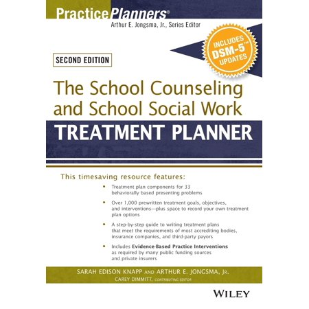 The School Counseling and School Social Work Treatment Planner, with Dsm-5 Updates, 2nd Edition ()