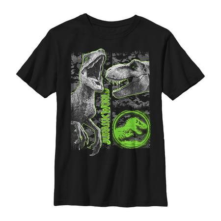Jurassic World: Fallen Kingdom Boys' Fallen Kingdom Camo Print Dinosaurs T-Shirt](Boys Kingdom)