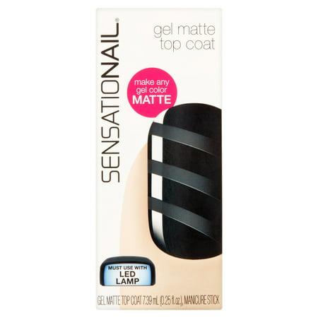 SensatioNail Vernis à ongles gel, Matte Top Coat, 0,25 fl oz