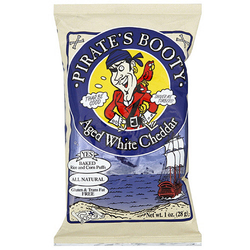 Pirate's Booty Aged White Cheddar Puffs Cheese Snacks, 1 oz  (Pack of 24)