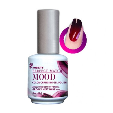LECHAT Perfect Match MOOD - Color Changing Gel Polish 0.5oz/ 15ml (MPMG01 - GROOVEY HEAT WAVE)