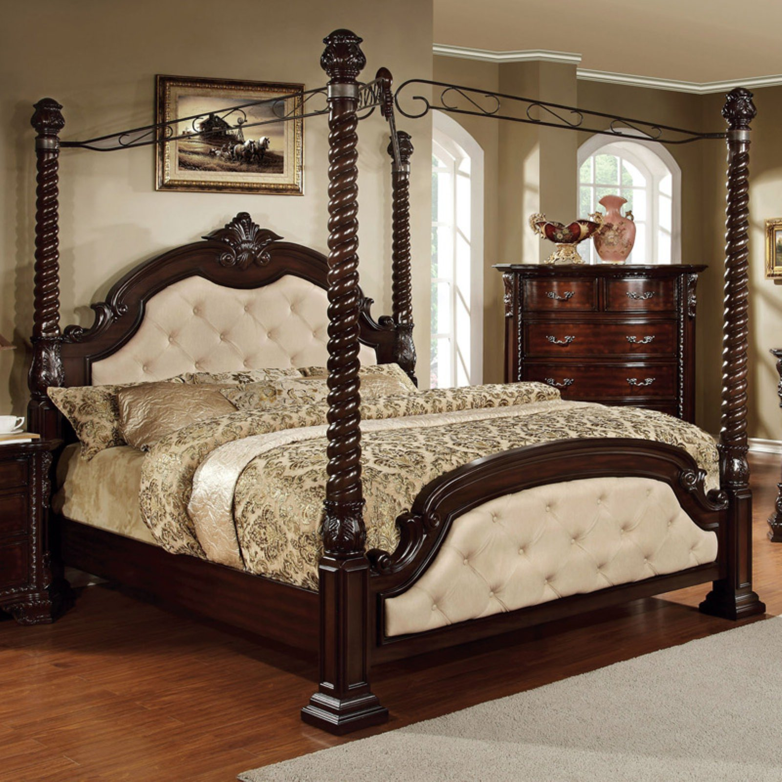 Furniture of America Sir Lanes Inspired Canopy Bed