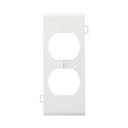 Leviton PSC8-W Sectional Thermoplastic Nylon Device Mount Center Panel 1-Gang Duplex Device Receptacle Wallplate, White