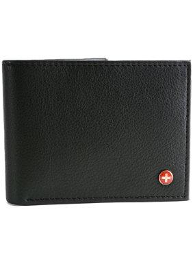 Men's RFID Blocking Leather Wallet Multi Card High Capacity Bifold