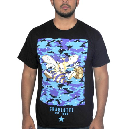 Charlotte Hornets Nba Hugo Mascot Mens Black T Shirt New Sizes S Xl