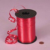 Red Spool - 3/16 Crimped Curling Ribbon 500 Yards Spool, RED Color for Gift Wrapping by UFindings