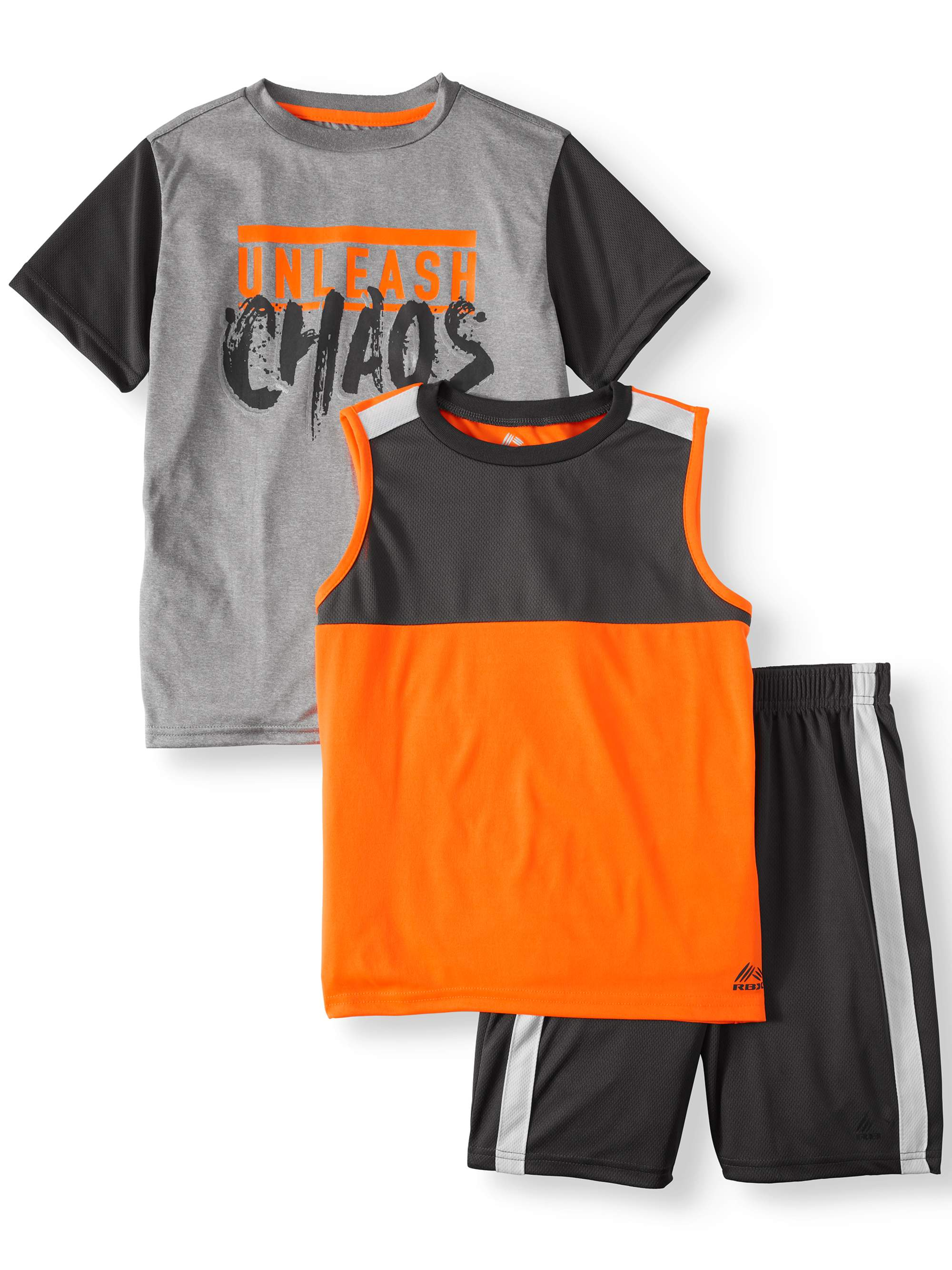 Graphic Tee, Muscle Tank, and Short, 3-Piece Outfit Set (Little Boys & Big Boys)
