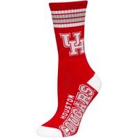 Houston Cougars For Bare Feet Women's 4-Stripe Deuce Crew Socks - M