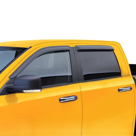 Fit 05-12 Nissan Frontier Crew Cab window visor vent wind rain deflector For 05 06 07 08 09 10 11 12 LE Nismo Off-Road P