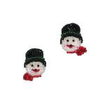 Christmas Sequin Appliques (Expo Int'l Christmas Snowman Sequin Applique Pack of 2)