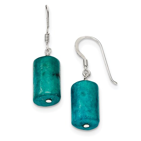Jasper Pattern Earrings (Sterling Silver Blue Jasper Earrings )