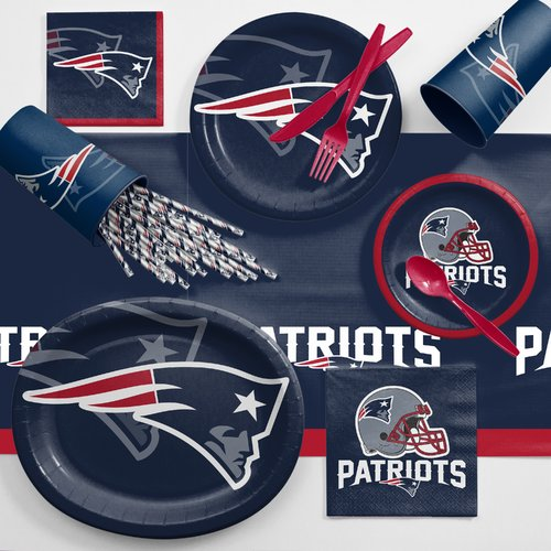 New England Patriots Ultimate Fan Party Supplies Kit