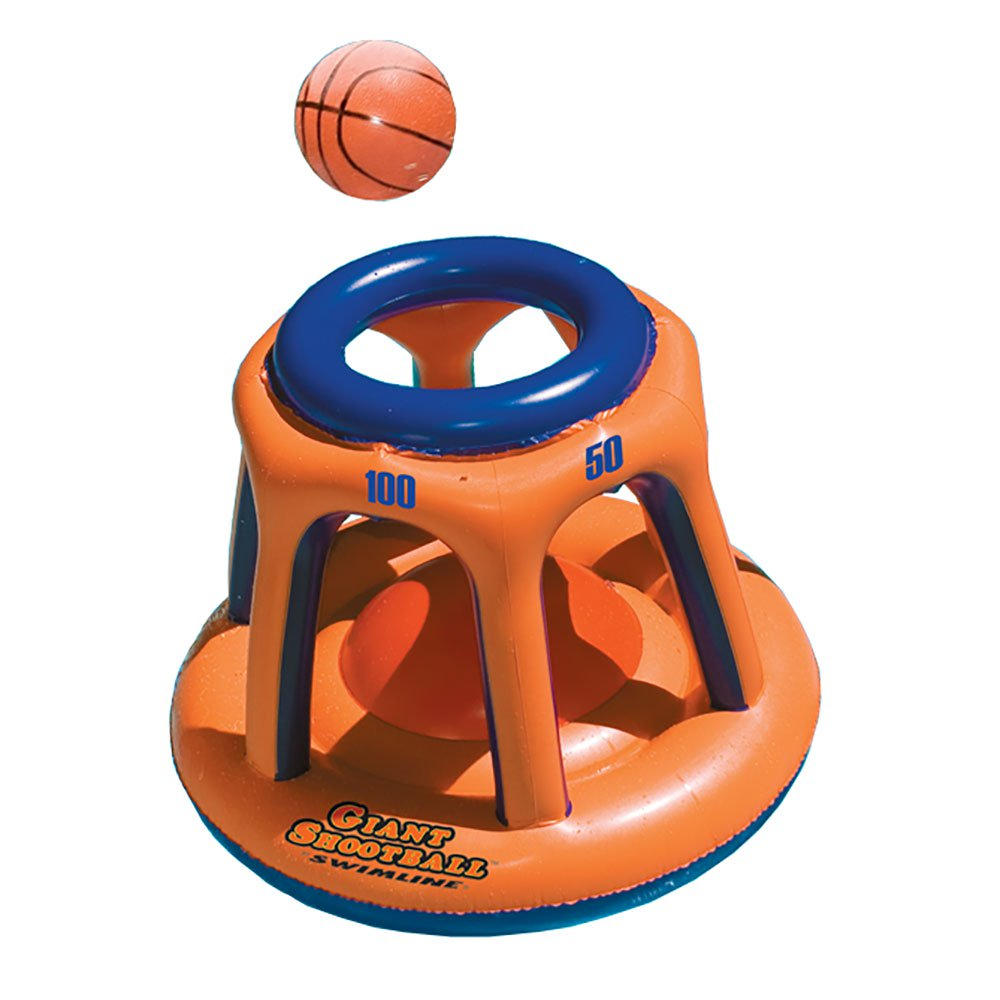 Swimline 90285 Basketball Hoop Giant Shootball Inflatable Fun Swimming Pool Toy by Swimline