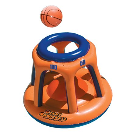 Swimline 90285 Basketball Hoop Giant Shootball Inflatable Fun Swimming Pool - Halloween Swimming Pool Decorations