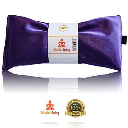 blissful being silk flax seed lavender scented microwavable eye pillow, - Lavender Silk Eye