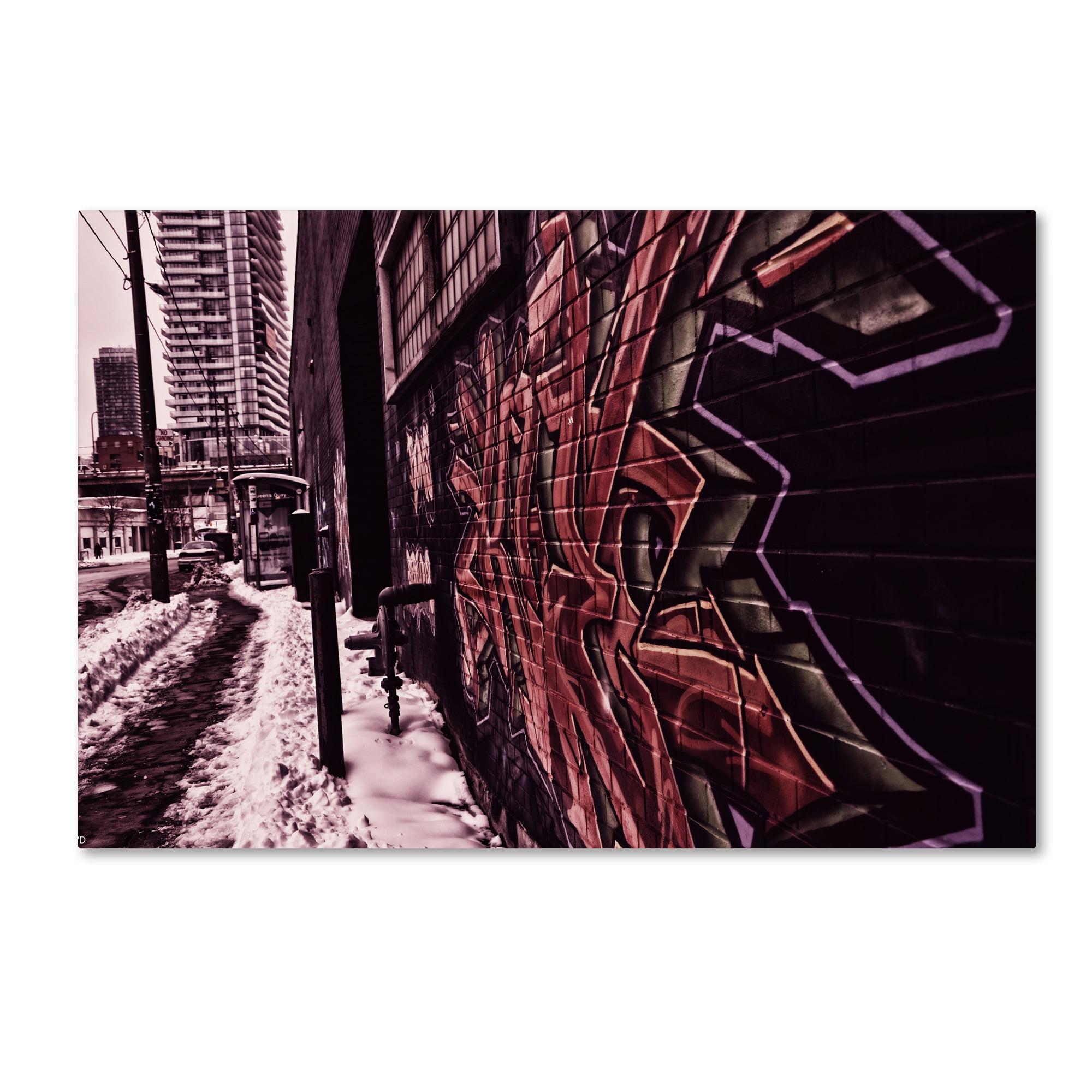 Trademark Fine Art 'Tagged' Canvas Art By Jonathan Van