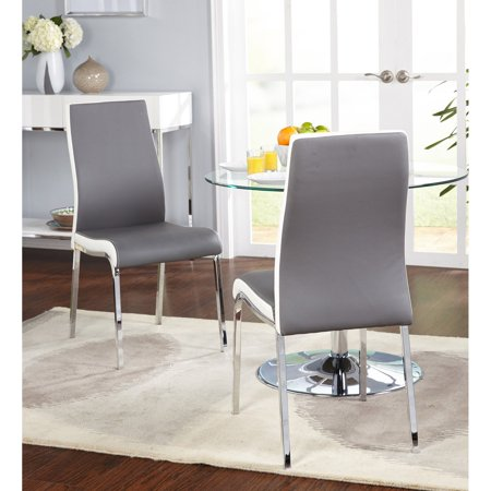 Nora Dining Chair Set Of 2 Gray White Walmart Com