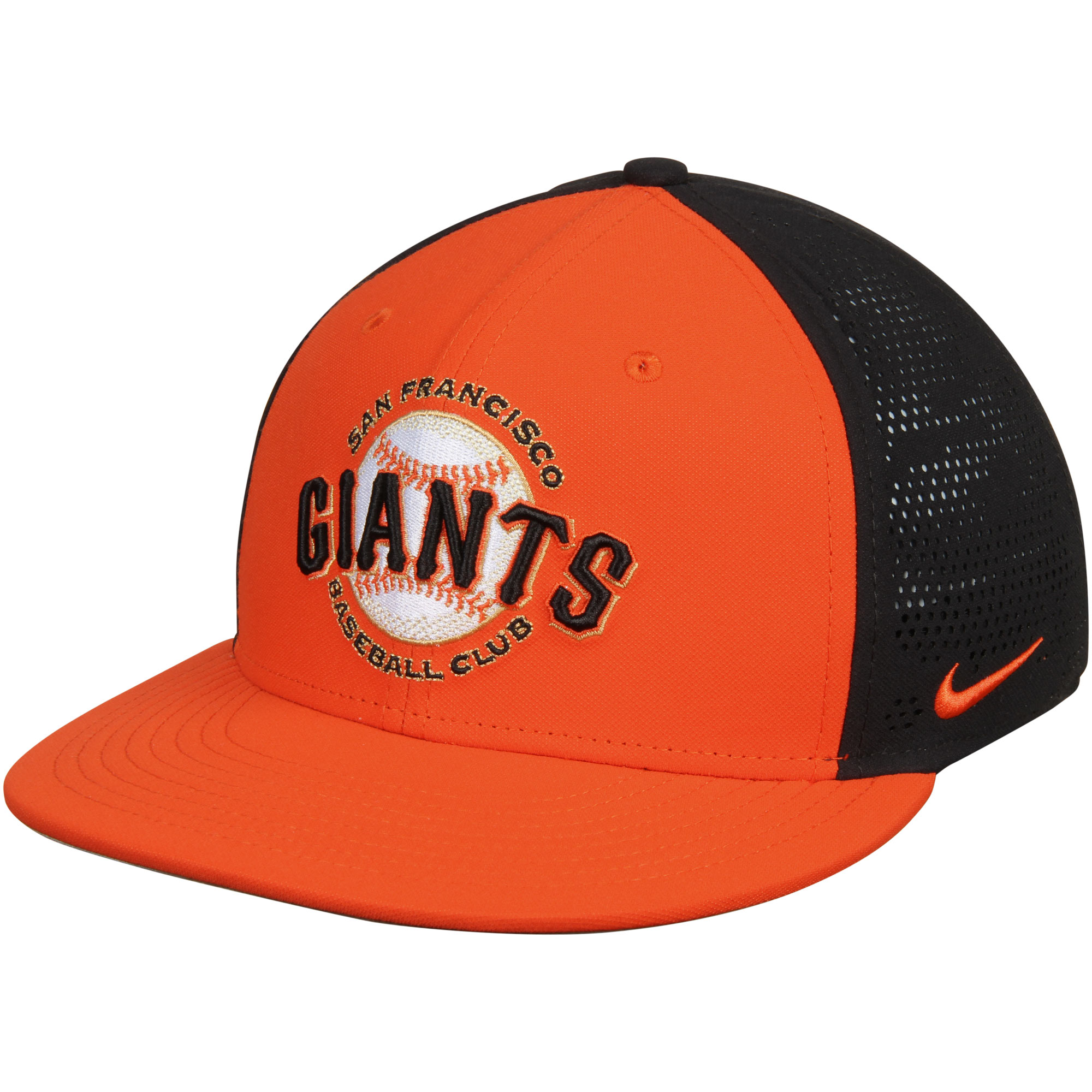 9eaf6a8456875 San Francisco Giants Nike True Vapor Swoosh Performance Flex Hat - Orange  Black - Walmart.com
