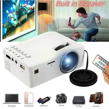 Digital Cinema Media - UNIC Home 1080p Mini LED Video Movie Game Projector Compact Pocket Projector Home Theater Cinema Digital Multimedia Projector Built in SPEAKER USB/TF/AV For Sound Bar/ PHONE /TV DV