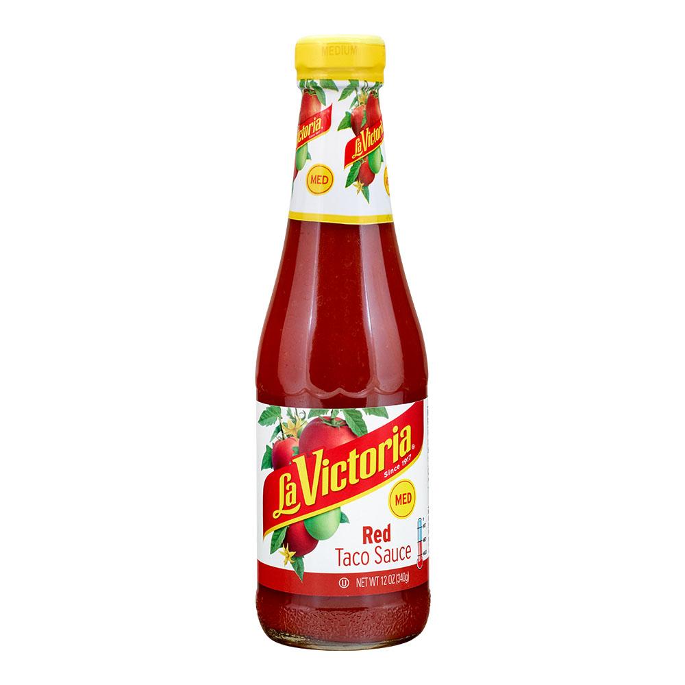 (2 pack) La Victoria Red Taco Sauce Medium, 12 Ounce