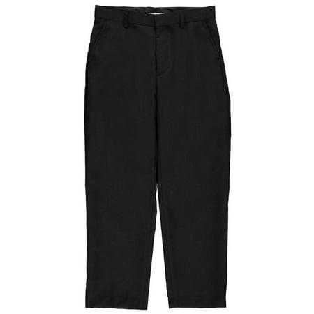 Husky Lambswool - Vittorino Big Boys' Husky Flat Front Slim Fit Dress Pants