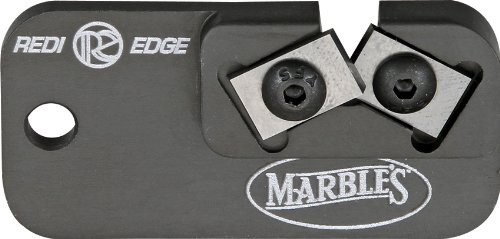 Marble Knives 81009 Redi-Edge Dog Tag Knife Sharpener with Black Anodized Aluminum Body Multi-Colored by MARBLES