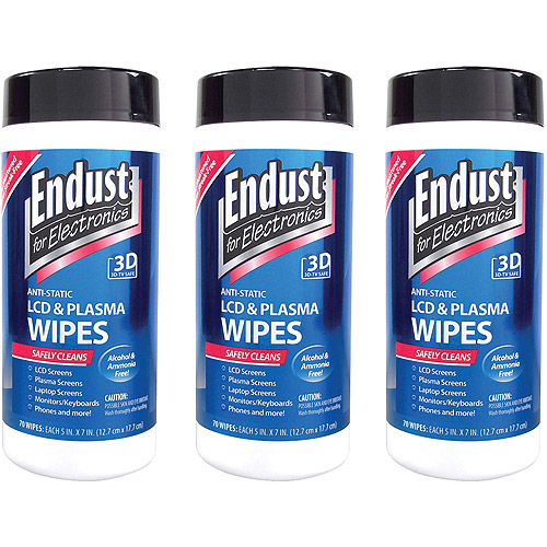 Endust LCD and Plasma Monitor Cleaner Pop-Up Wipes, 3 Pack