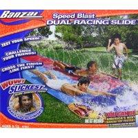 Banzai Speed Blast Dual Racing Slide - Lawn Water Slide