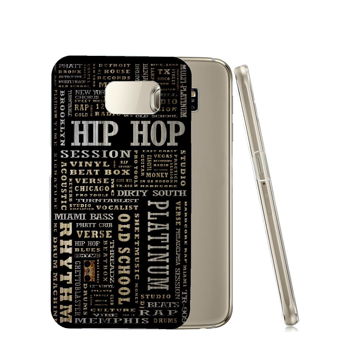 KuzmarK™ Samsung Galaxy S6 Edge Clear Cover Case - Hip Hop Platinum