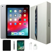 Refurbished Apple iPad Air Bundle | 32 GB Space Gray | Wi-Fi Only | Tempered Glass, Case, Stylus Pen & Charger!