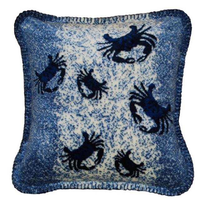 Denali Home Collection 35047418B Atlantic Blue Crab Cluster With Lapis Microplush Pillow