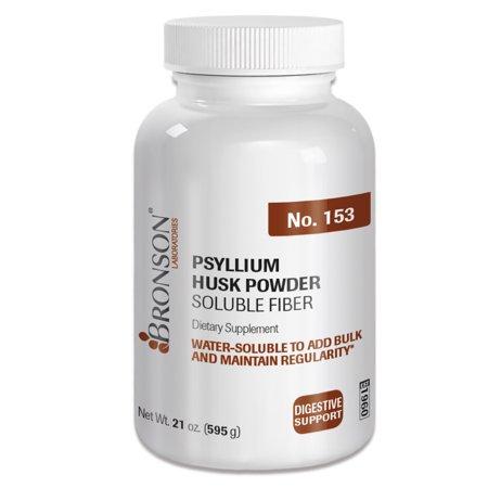 Bronson Psyllium Husk Powder Soluble Fiber, 21 oz