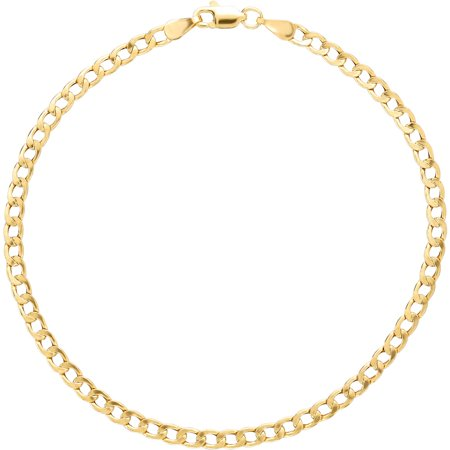 Simply Gold 10kt Yellow Gold 3mm Curb Chain Bracelet, 8