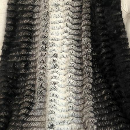 Plutus PBSF1449-6084-TC 60 x 84 in. Faux Fur Luxury Throw - Brown & Ivory - image 2 de 3