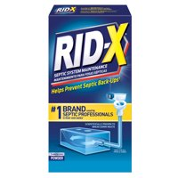 RID-X Septic Treatment Drain Opener, 1 Month Supply of Powder, 9.8oz, 100% Biobased