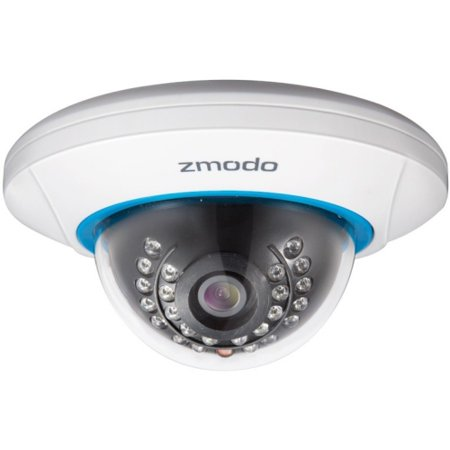 Zmodo Network Camera - Color - 50 ft - H.264 - 1280 x 7202.80 mm - Cable, Wireless - Dome