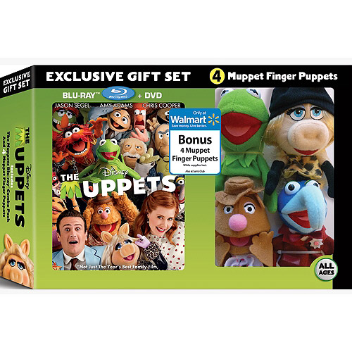 The Muppets Gift Set (Includes The Muppets Blu-Ray Combo Pack and 4 Muppet Finger Puppets) by