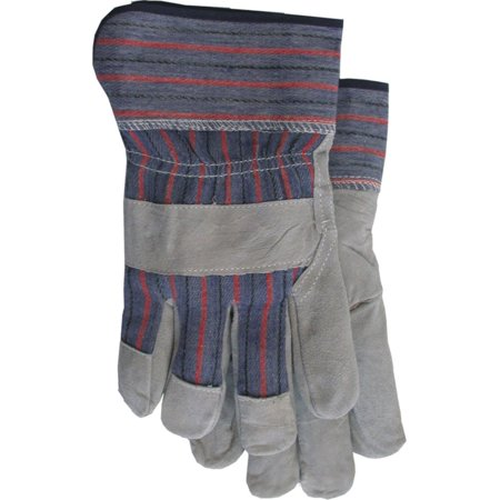 Boss Gloves Large Gray and Blue Economy Split Leather Palm