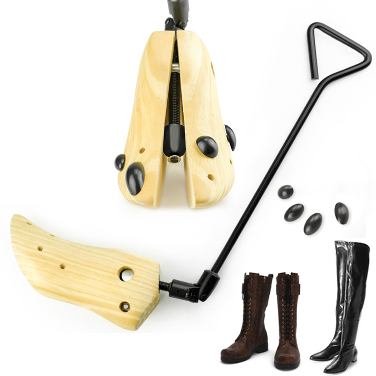 Adjustable Shoes Stretcher Men Women Shoe Boots Tree Shaper Pine Wooden 3 Sizes