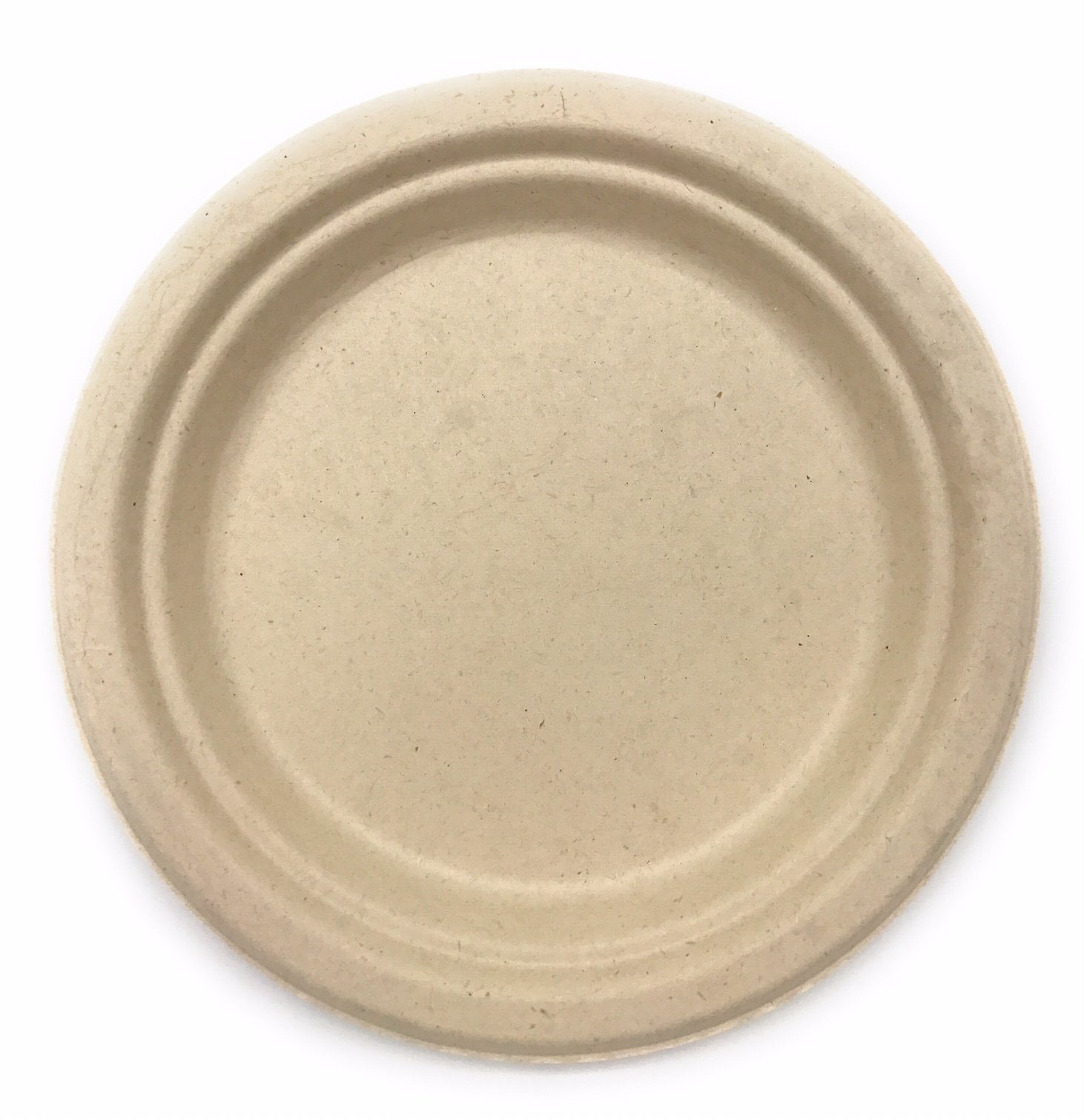 125 Pcs 7 In Round Disposable Plates Natural Sugarcane Bagasse Bamboo Fibers Sturdy Seven Inch Compostable Eco Friendly Environmental Paper Plate Alternative 100 By Product Tree Plastic Free Walmart Com Walmart Com