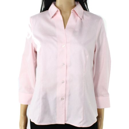 Lauren Ralph Lauren New Pink Womens Small S Non Iron