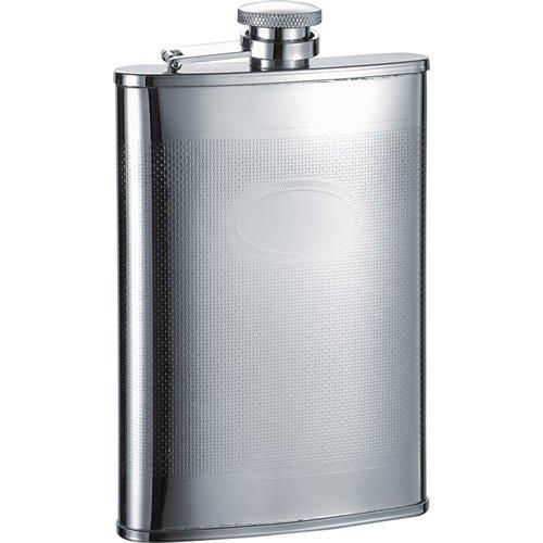 Visol  Mark Knit Pattern Stainless Steel Liquor Flask - 8 ounces