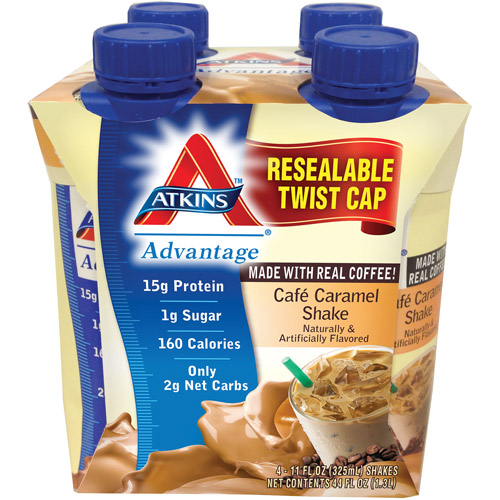 Atkins Advantage Cafe Caramel Shake, 4ct