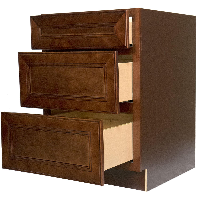 Everyday Cabinets 24-inch Cherry Mahogany Leo Saddle Bath...