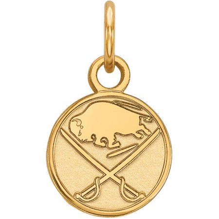 LogoArt NHL Buffalo Sabres 14kt Gold-Plated Sterling Silver Extra Small Pendant