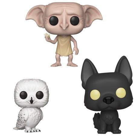 Funko POP! Harry Potter Series 5 Collectors Set 2 - Hedwig, Dobby Snapping his fingers, Sirius as a - Harry Potter Owl Hedwig