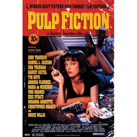Pulp Fiction - Movie Poster / Print (Regular Style - Uma Thurman On Bed) (Size: 24